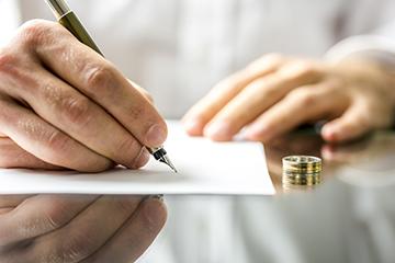 Подпись документа о разводе