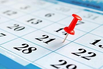 Календарные дни работы
