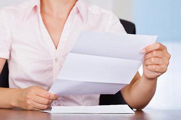 бумаги для составления договора