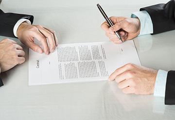 разрыв контрактный отношений